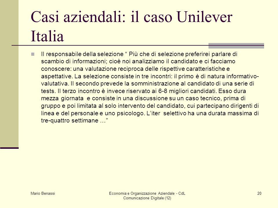 Casi aziendali: il caso Unilever Italia