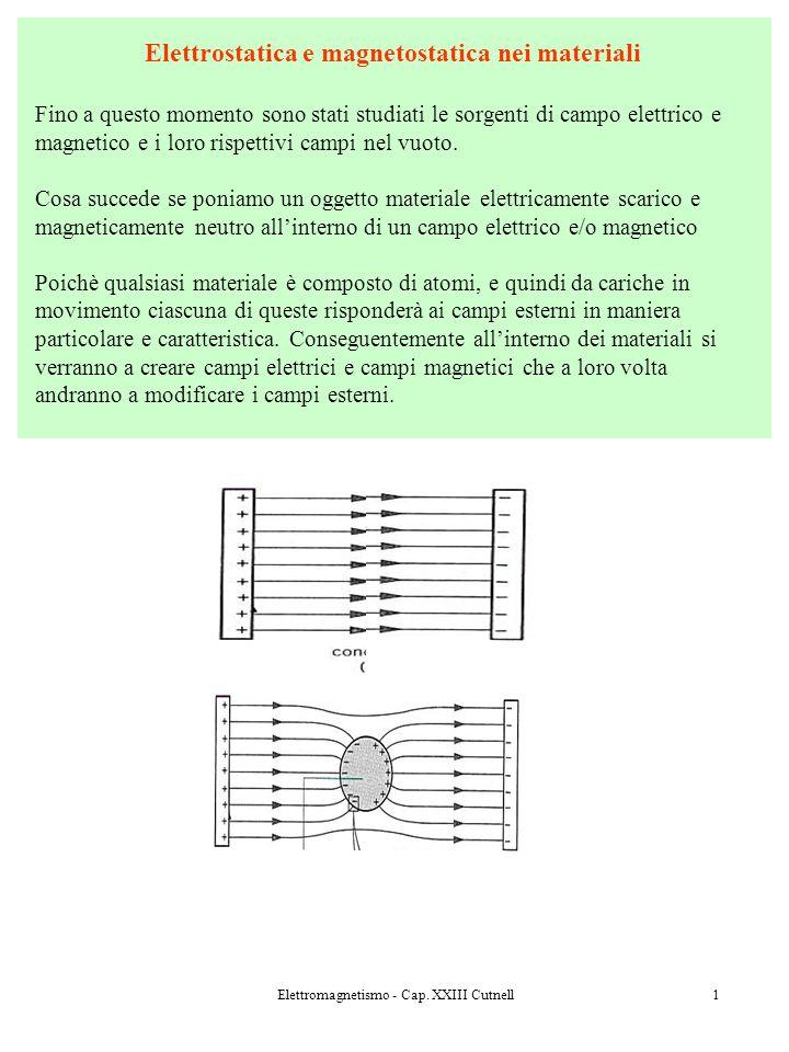 Elettrostatica e magnetostatica nei materiali