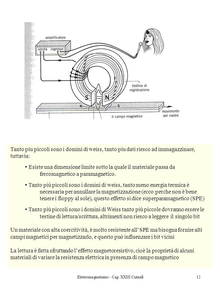 Elettromagnetismo - Cap. XXIII Cutnell