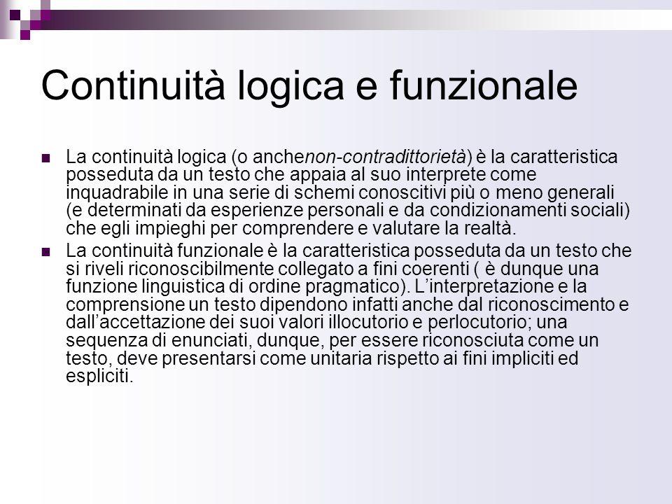 Continuità logica e funzionale