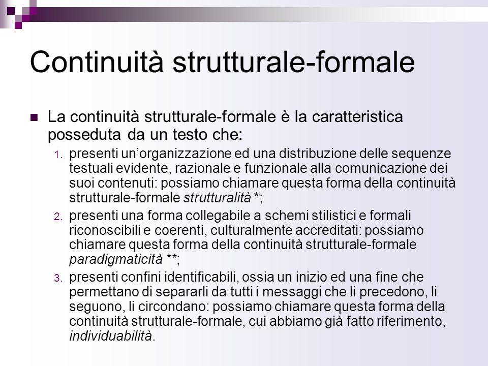 Continuità strutturale-formale