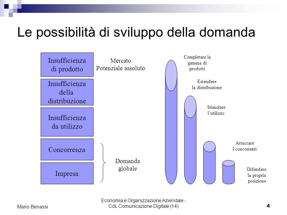 Le possibilità di sviluppo della domanda