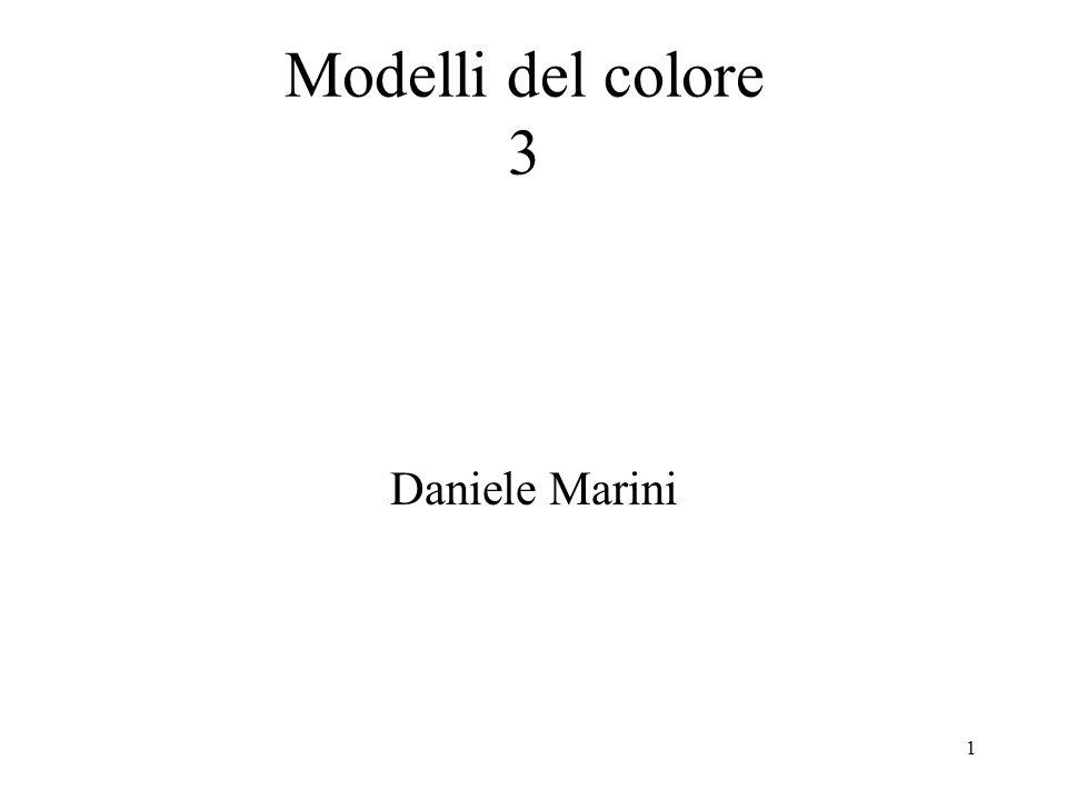 Modelli del colore 3 Daniele Marini