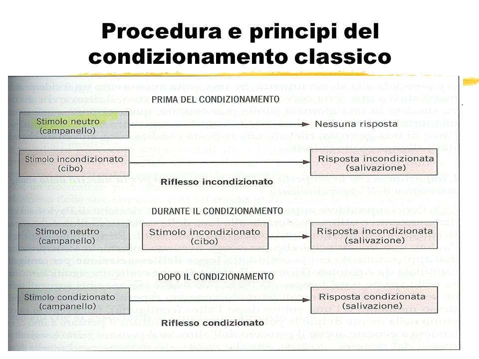 Procedura e principi del condizionamento classico