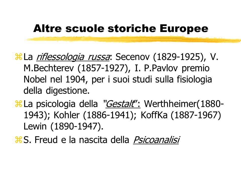 Altre scuole storiche Europee