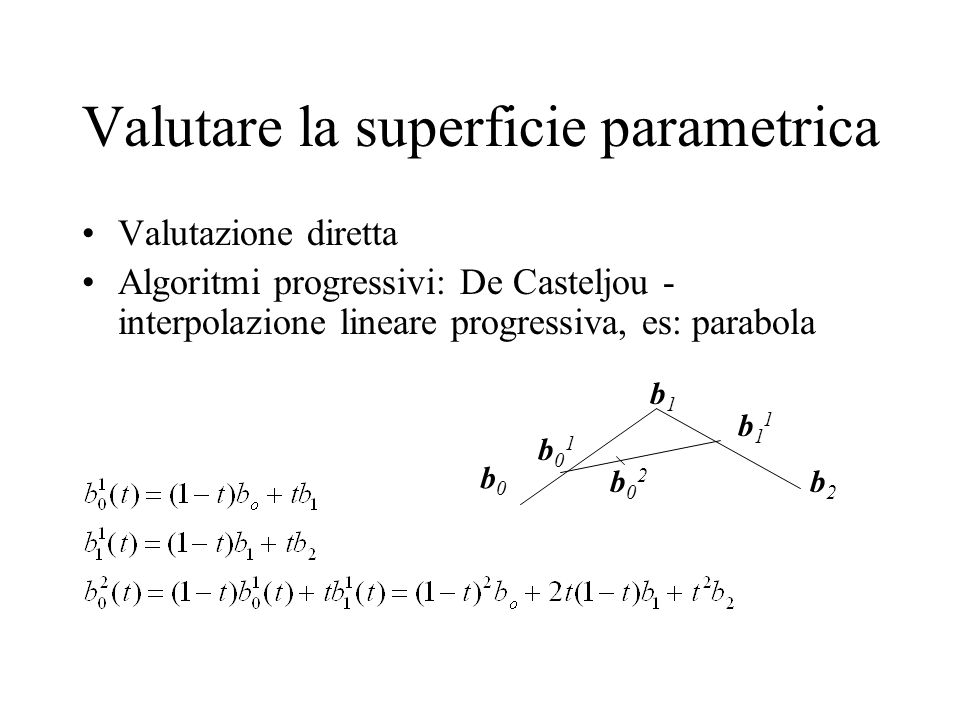 Valutare la superficie parametrica