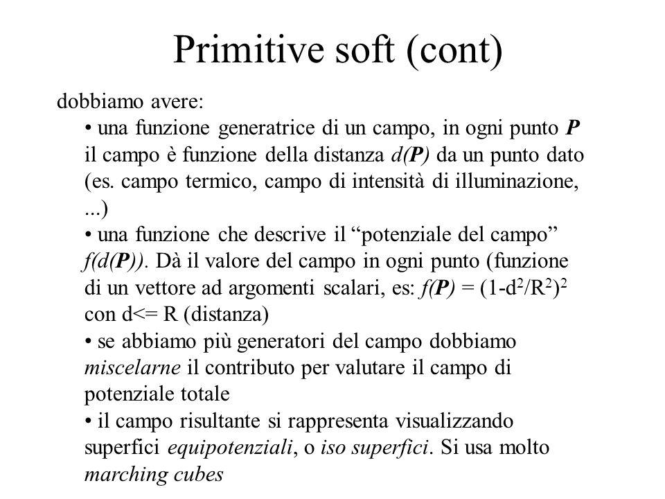 Primitive soft (cont) dobbiamo avere: