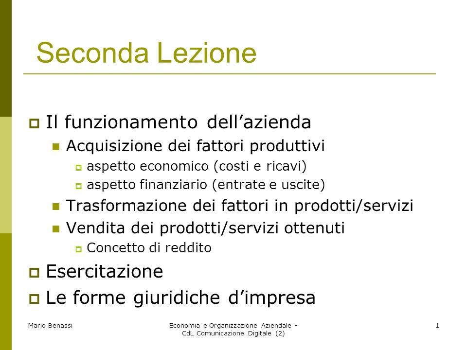 Economia e Organizzazione Aziendale - CdL Comunicazione Digitale (2)