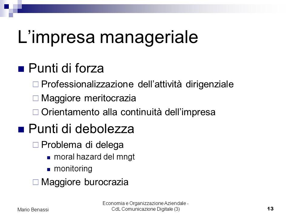 L'impresa manageriale