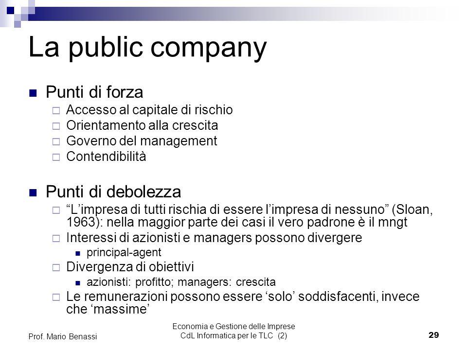 Economia e Gestione delle Imprese CdL Informatica per le TLC (2)