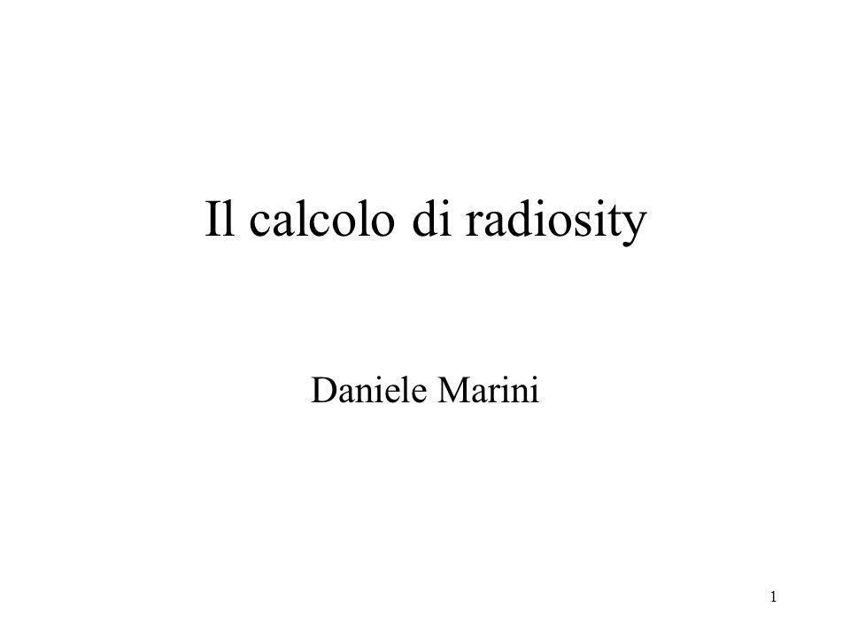 Il calcolo di radiosity