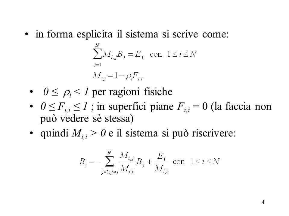 in forma esplicita il sistema si scrive come: