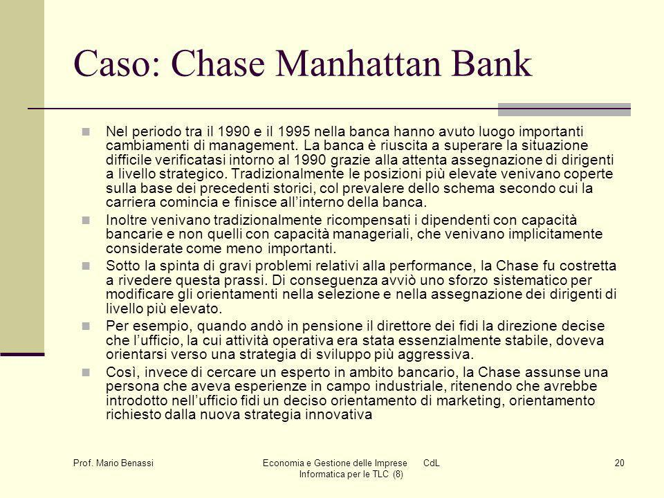 Caso: Chase Manhattan Bank