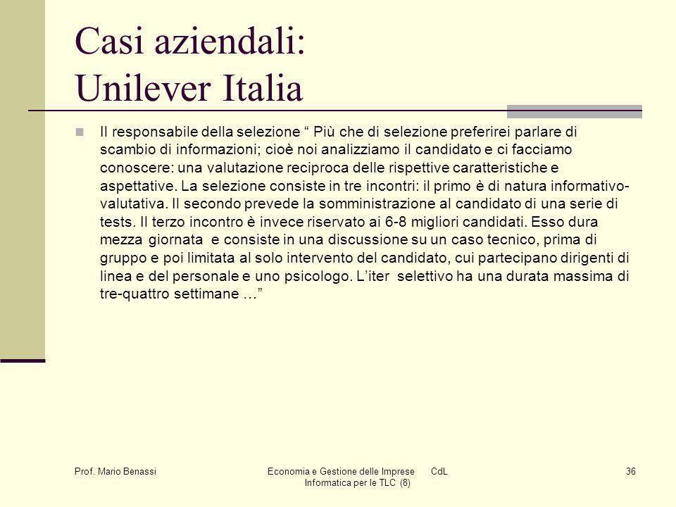 Casi aziendali: Unilever Italia
