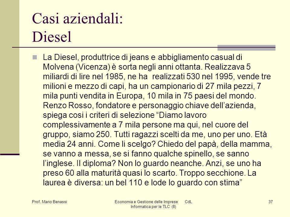 Casi aziendali: Diesel