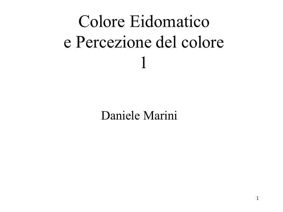 Colore Eidomatico e Percezione del colore 1