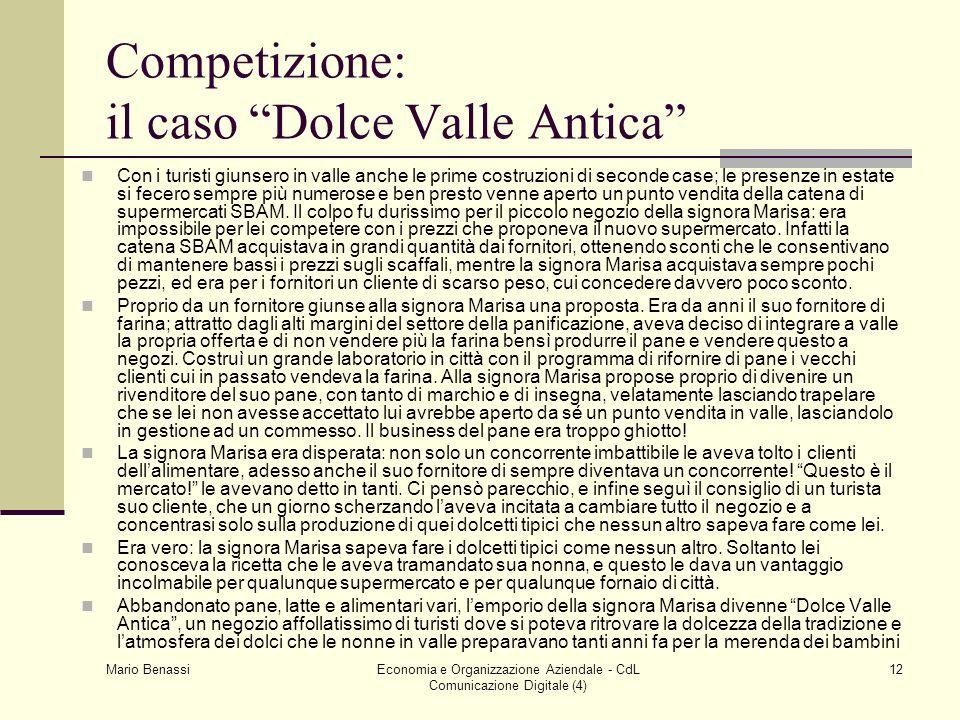 Competizione: il caso Dolce Valle Antica