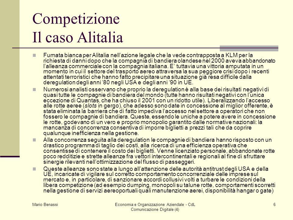 Competizione Il caso Alitalia