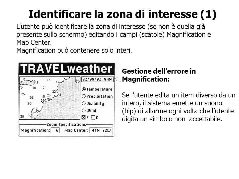 Identificare la zona di interesse (1)
