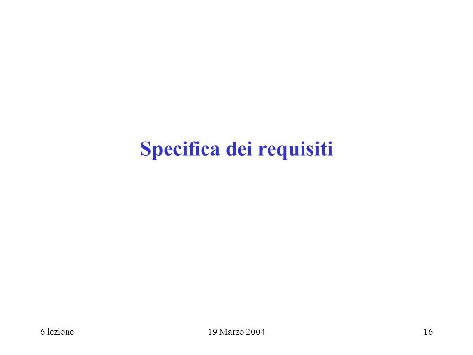 Specifica dei requisiti