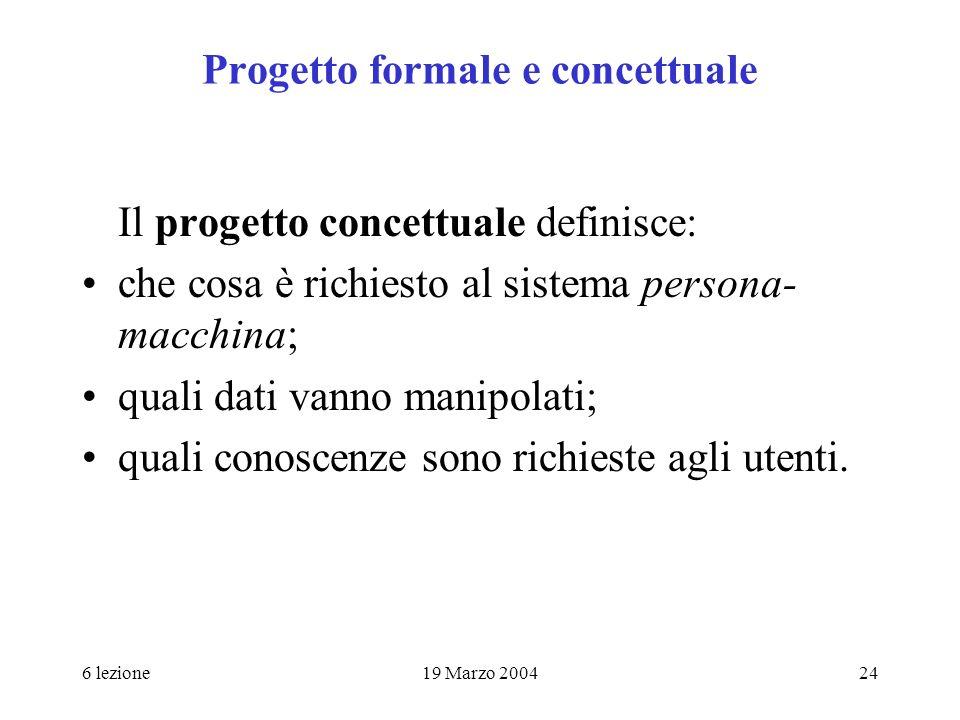 Progetto formale e concettuale