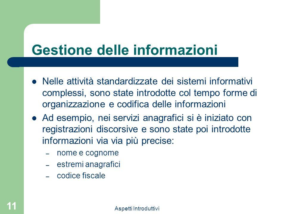 Gestione delle informazioni