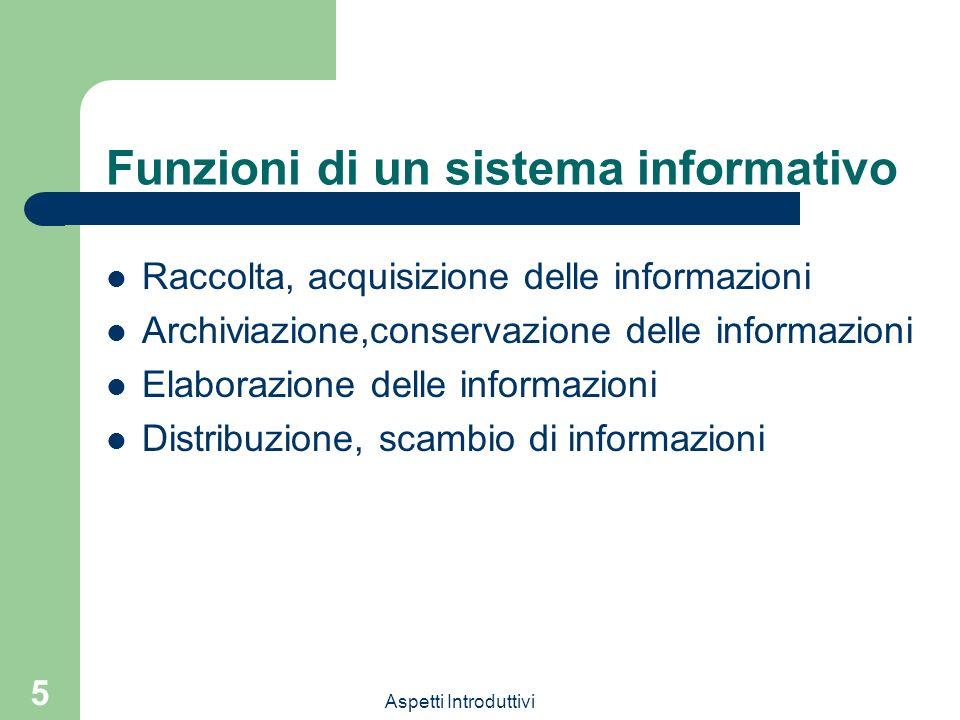 Funzioni di un sistema informativo