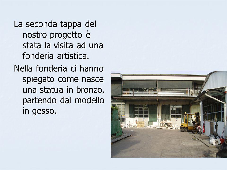 La seconda tappa del nostro progetto è stata la visita ad una fonderia artistica.