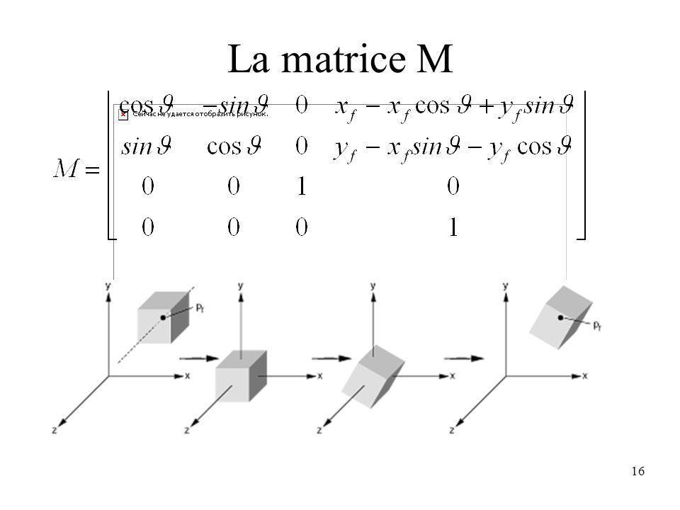 La matrice M
