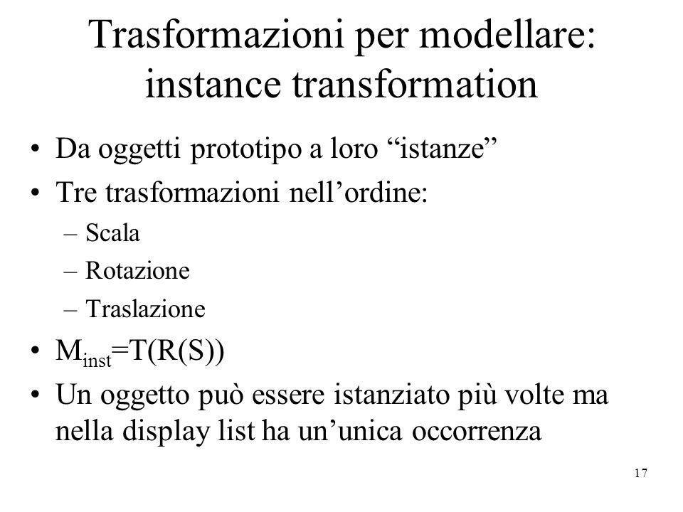 Trasformazioni per modellare: instance transformation