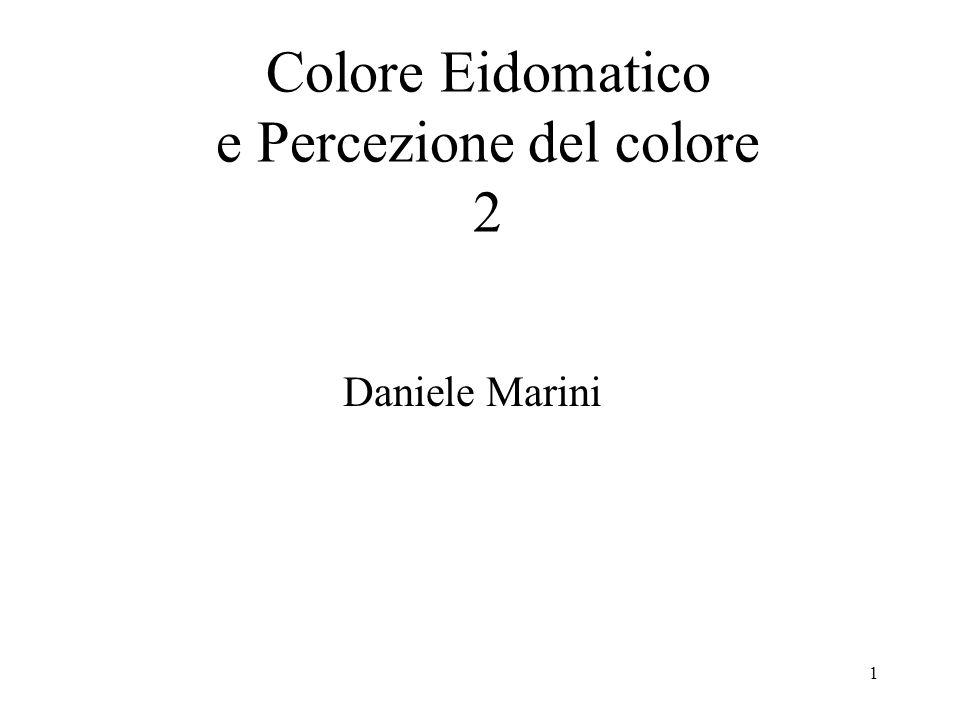 Colore Eidomatico e Percezione del colore 2