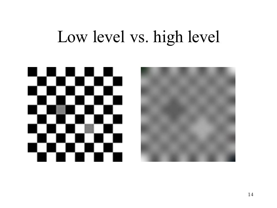 Low level vs. high level