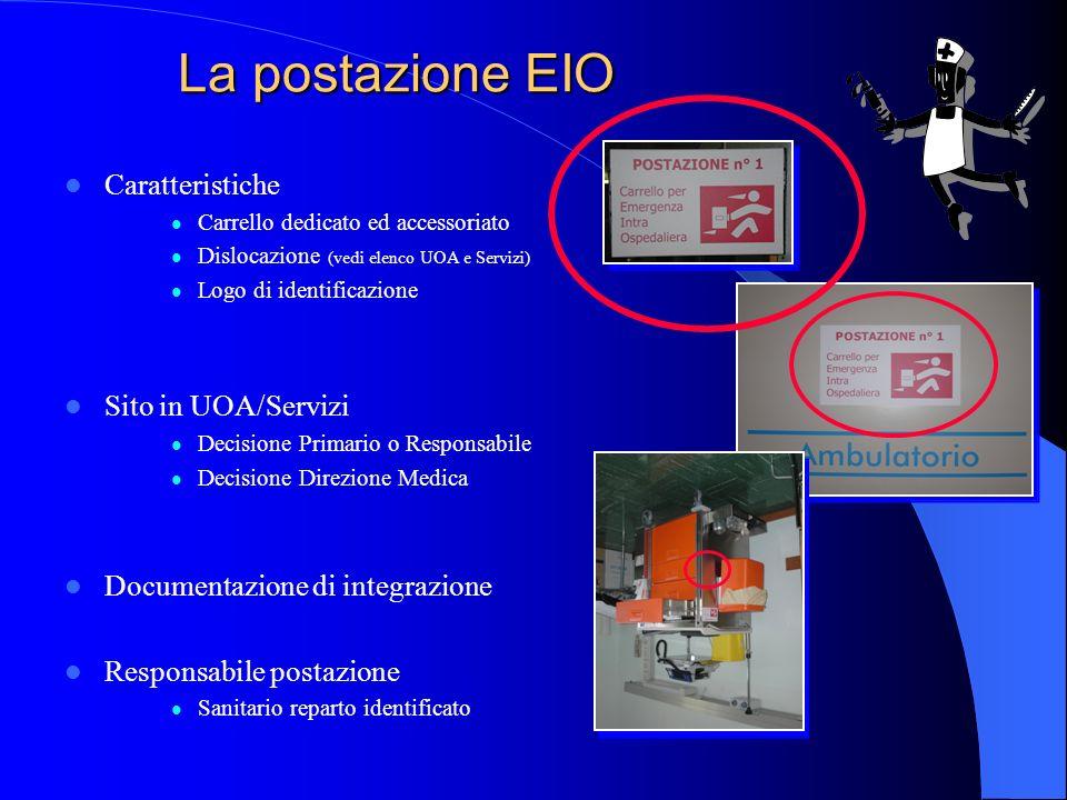La postazione EIO Caratteristiche Sito in UOA/Servizi