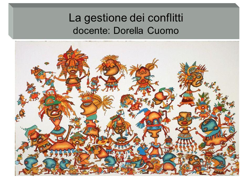 La gestione dei conflitti docente: Dorella Cuomo