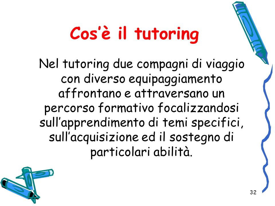 Cos'è il tutoring