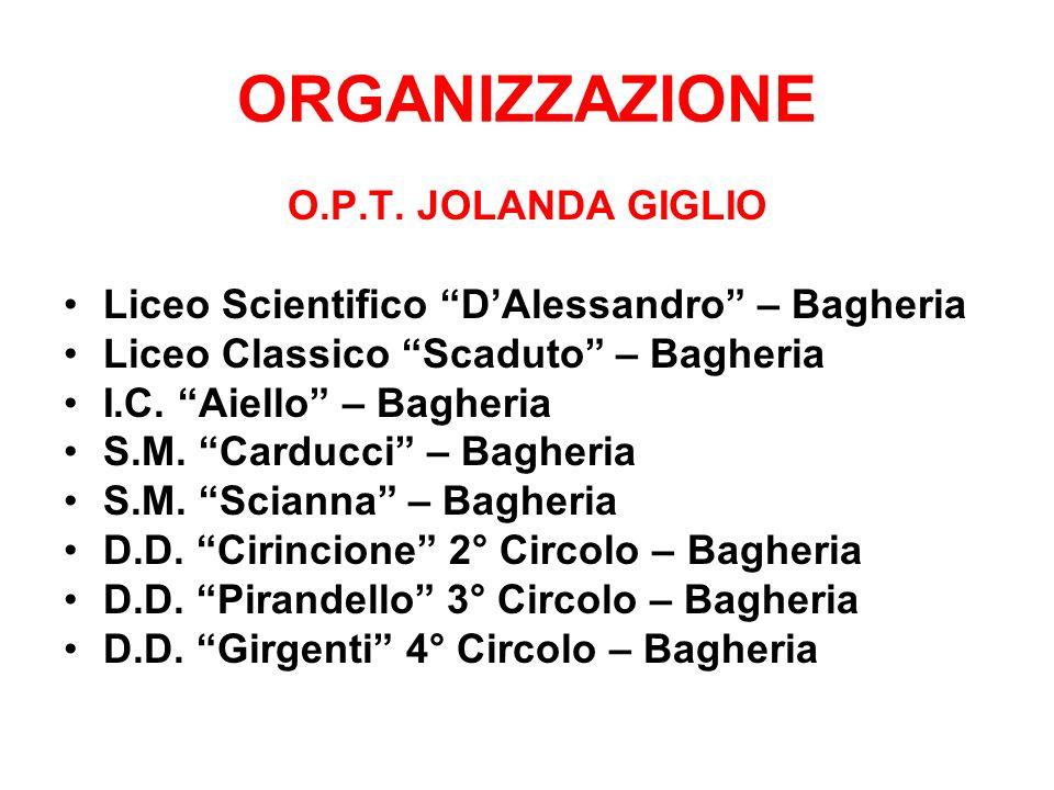 ORGANIZZAZIONE O.P.T. JOLANDA GIGLIO