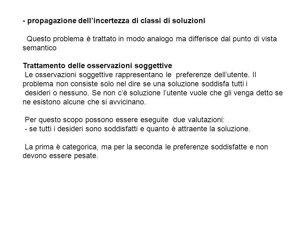 - propagazione dell'incertezza di classi di soluzioni
