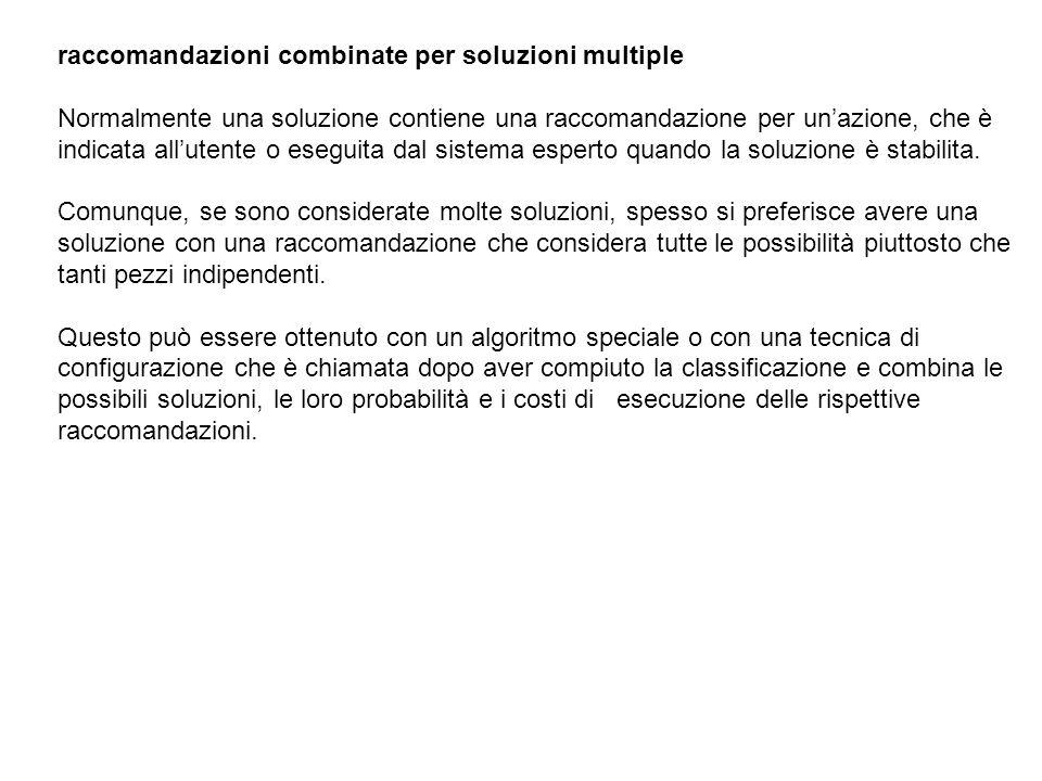 raccomandazioni combinate per soluzioni multiple