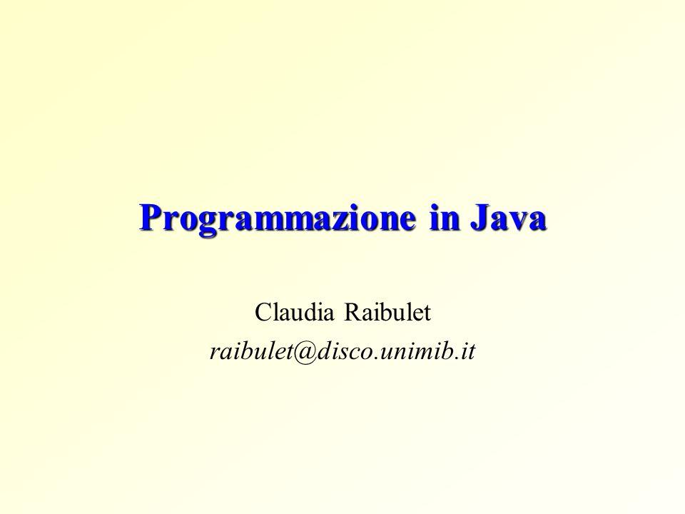 Programmazione in Java
