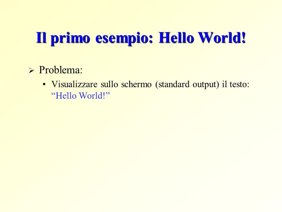 Il primo esempio: Hello World!