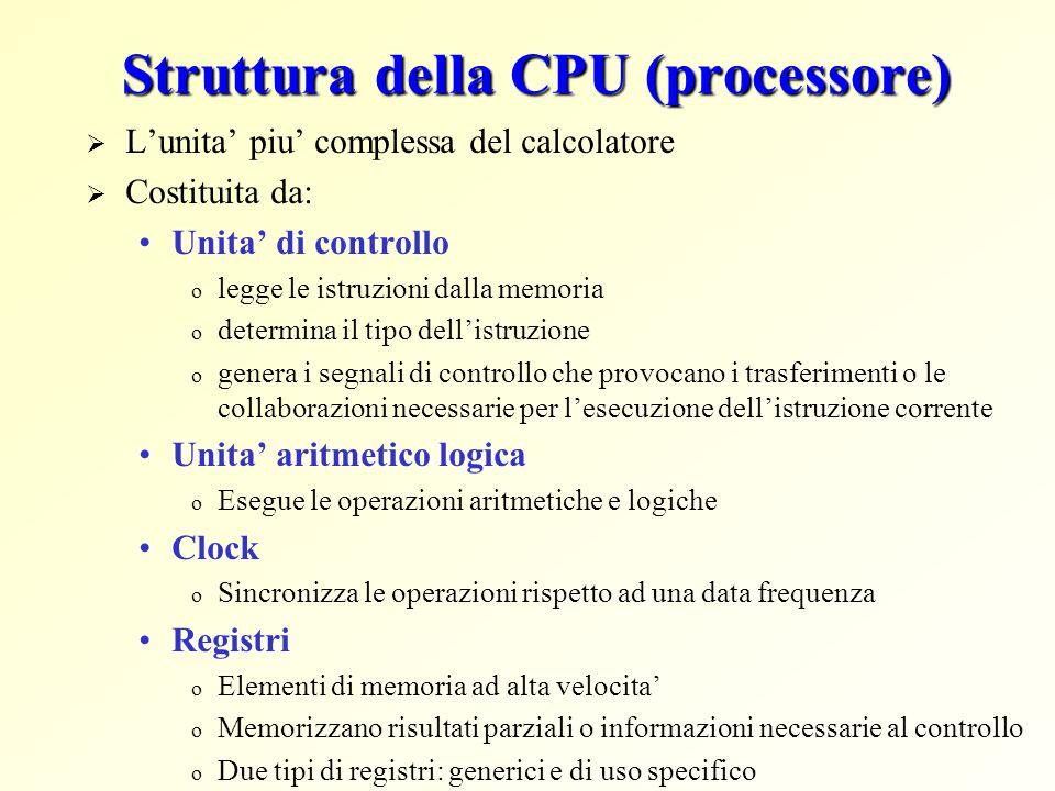 Struttura della CPU (processore)