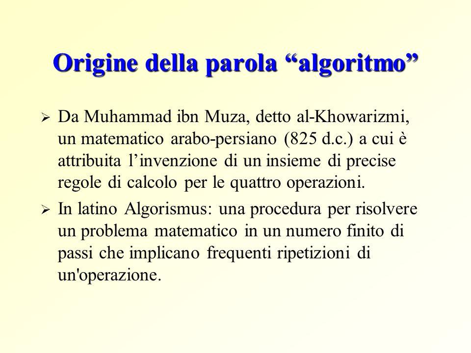 Origine della parola algoritmo