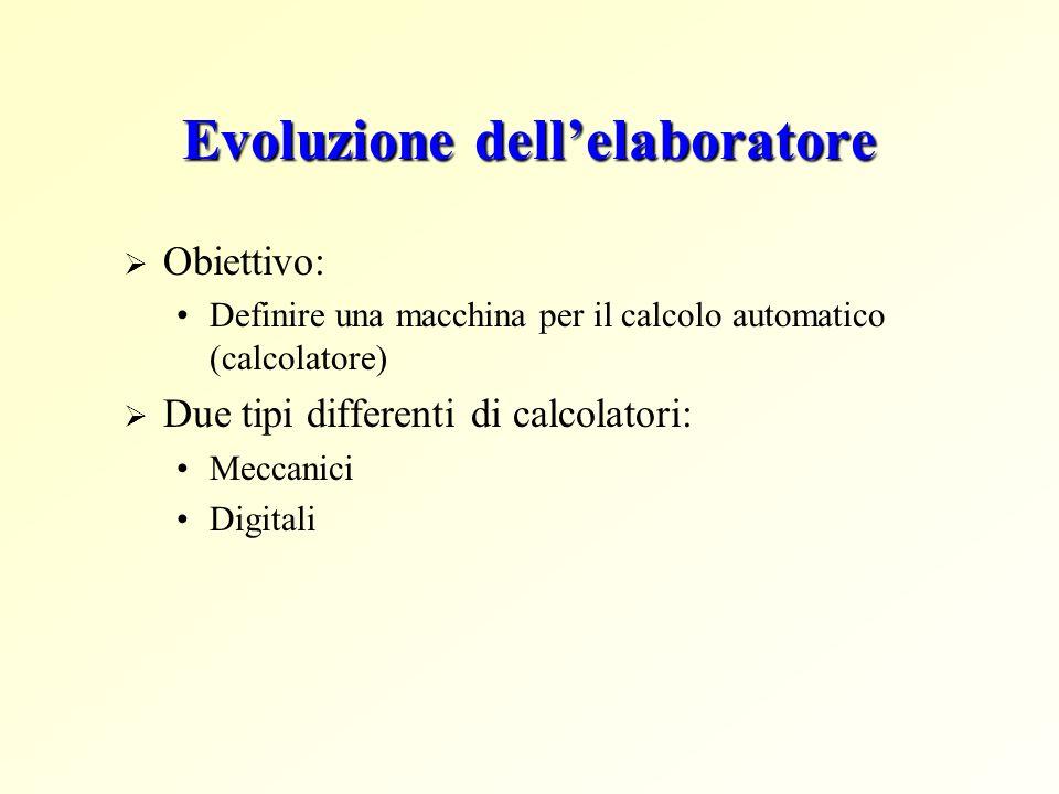 Evoluzione dell'elaboratore