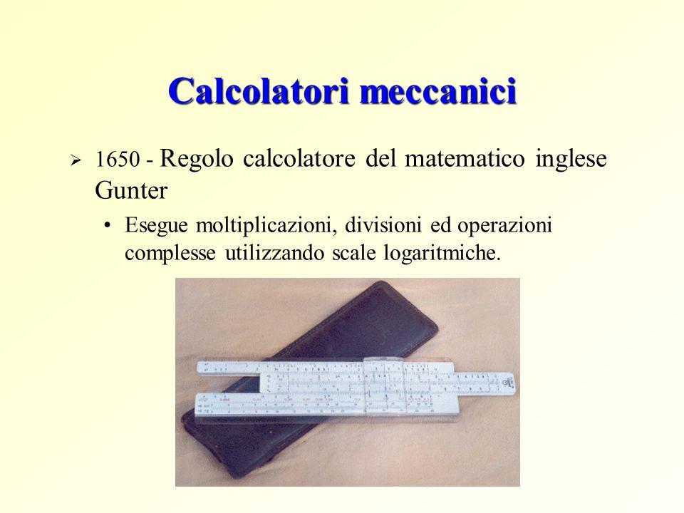 Calcolatori meccanici