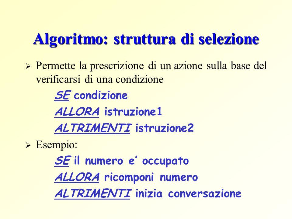 Algoritmo: struttura di selezione