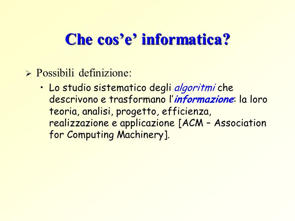 Che cos'e' informatica