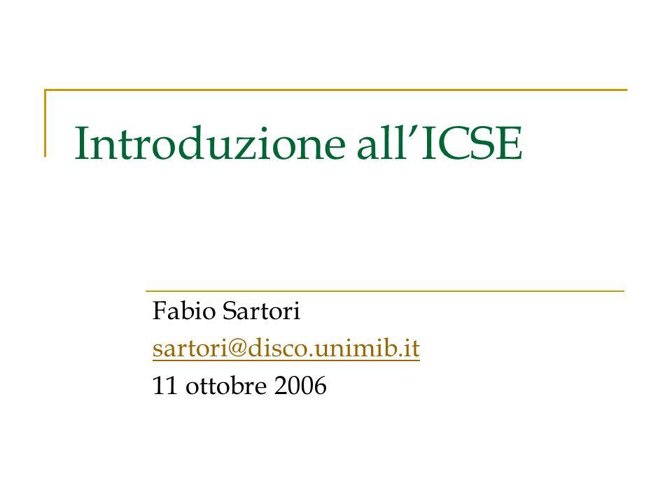 Introduzione all'ICSE