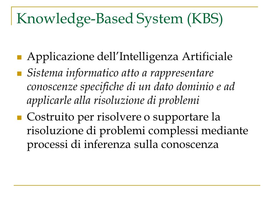 Knowledge-Based System (KBS)