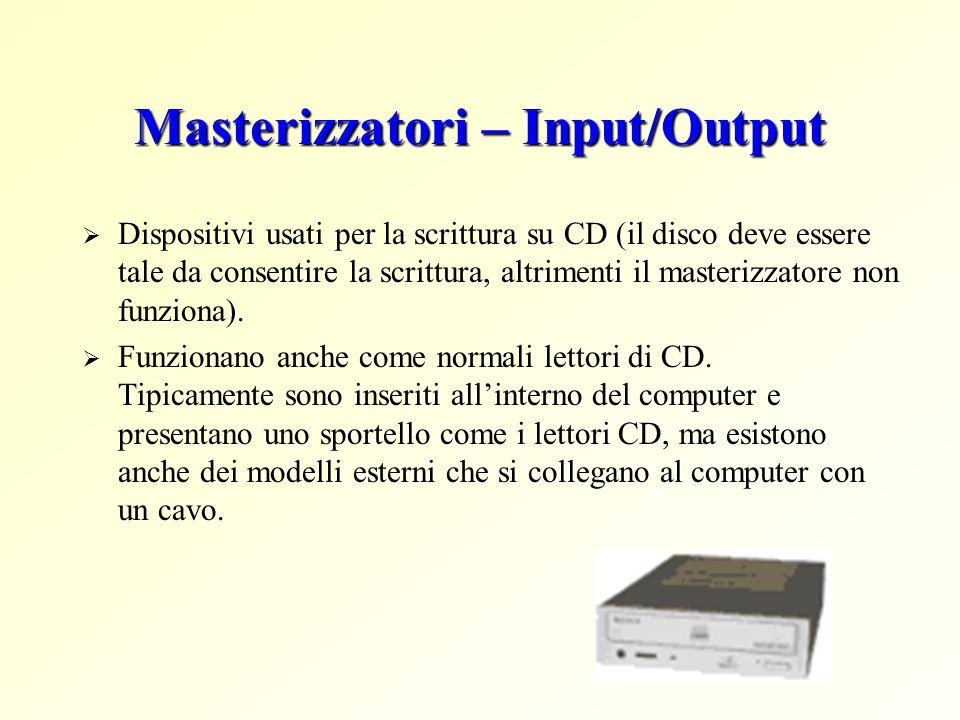 Masterizzatori – Input/Output