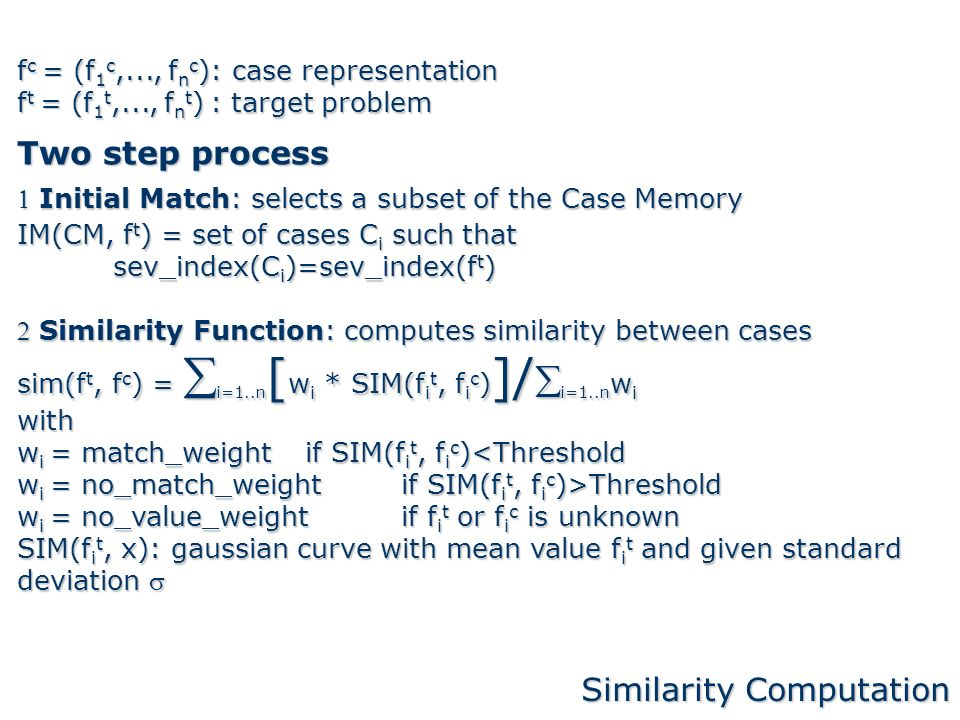 Similarity Computation